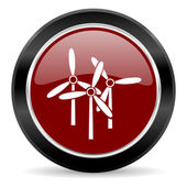 Windmill icon — 图库照片