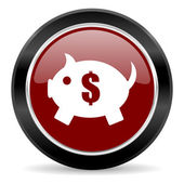 Piggy bank icon — 图库照片