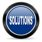 Oplossingen pictogram — Stockfoto