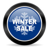 Winter sale icon — Stock Photo