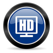 Hd display icon — Stock Photo