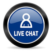 Live chat-pictogram — Stockfoto