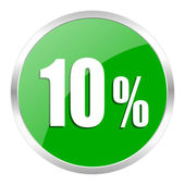 10 percent icon — Stock Photo