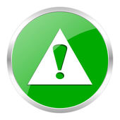 Exclamation sign icon — Foto de Stock