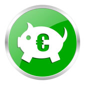 Piggy bank icon — Stockfoto