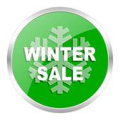 Zimní prodej ikona — Stock fotografie