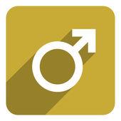Male gender icon — Stock Photo