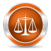 ícone de justiça — Fotografia Stock