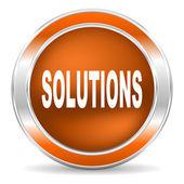 解决方案图标 — 图库照片