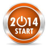 Icono del año 2014 — Foto de Stock