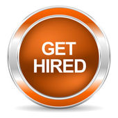 Get hired icon — Foto de Stock