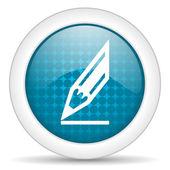 Kurşun kalem simgesini — Stok fotoğraf