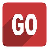 Go icon — Stock Photo