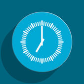 Time blue flat web icon — Photo