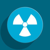 Radiation blue flat web icon — Stock Photo