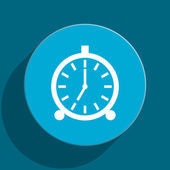 Alarm blue flat web icon — Foto de Stock