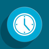 Time blue flat web icon — Foto de Stock
