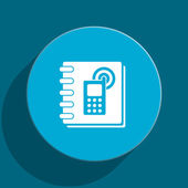 Phonebook blue flat web icon — Stock Photo
