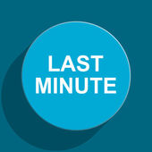 Last minute blue flat web icon — Stock Photo