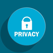 Privacy blue flat web icon — Foto Stock