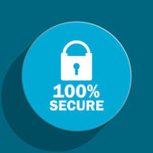 Secure blue flat web icon — Foto Stock