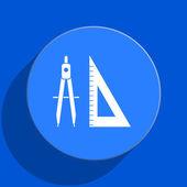 Aprendizaje icono plana web azul — Foto de Stock