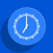 Time blue web flat icon — Foto de Stock