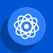 Atom blue web flat icon — Stock Photo