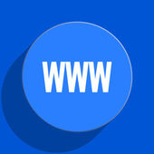 Www blue web flat icon — Stock Photo