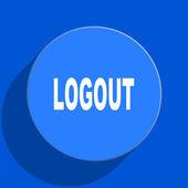 Logout blue web flat icon — Stock Photo