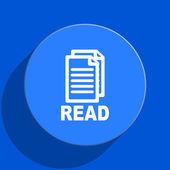 Read blue web flat icon — Stock Photo