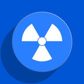 Radiation blue web flat icon — Stock Photo