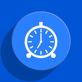 Alarm blue web flat icon — Foto de Stock