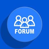 Forum blue web flat icon — Stock Photo