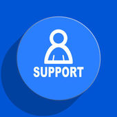 Support blue web flat icon — Stock Photo