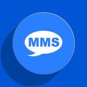 Mms blue web flat icon — Stock Photo