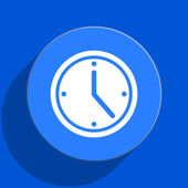 Time blue web flat icon — ストック写真
