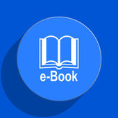 Book blue web flat icon — Stock Photo
