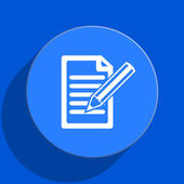 Subscribe blue web flat icon — Stock Photo