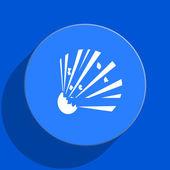 Bomb blue web flat icon — Stock Photo