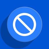 Access denied blue web flat icon — Stock Photo