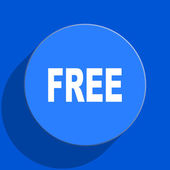Free blue web flat icon — Stock Photo