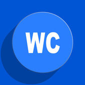 Toilet blue web flat icon — Foto Stock
