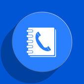 Phonebook blue web flat icon — Stock Photo