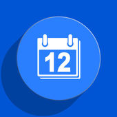Calendar blue web flat icon — Stockfoto
