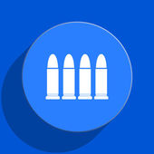 Ammunition blue web flat icon — Stock Photo