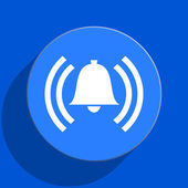 Alarm blue web flat icon — Stockfoto