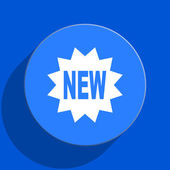 New blue web flat icon — Stock Photo