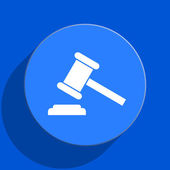 Auction blue web flat icon — Stock Photo