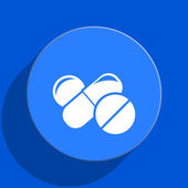 Medicine blue web flat icon — Stock Photo